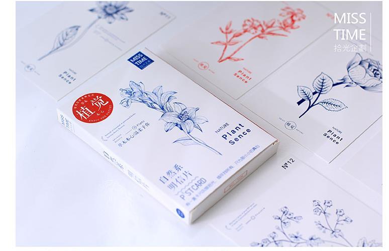 Free Shipping! Nature Plant Sence postcard 30 pcs/set Christmas Card/Greeting Card