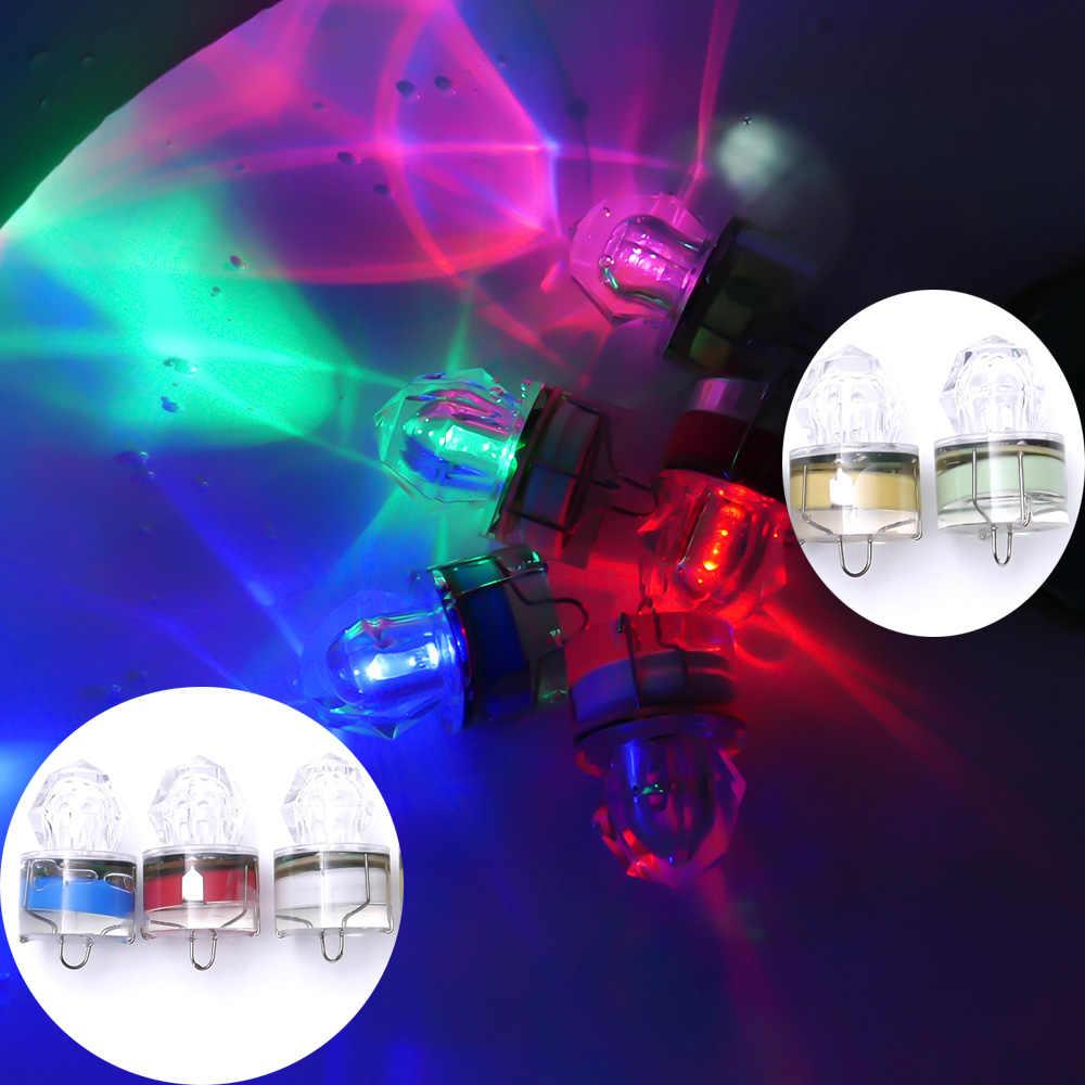 LED Tiefer Tropfen Unterwasser Diamant Blitz Angeln Licht Squid Strobe Köder Locken Party festival Decor glow prop
