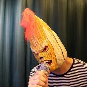 Image 5 - غاضب السيد الذرة القديمة الإبداعية هالوين قناع الراقية ذرة صفراء أغطية الرأس زخارف حفلة هالوين هالوين لوازم الحفلات & &