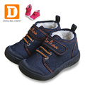 New Autumn Baby Shoes 2017 Casual Demin Jeans Children Boots Winter Canvas Rubber Boys Sneakers Plush Warn Toddler Girls Shoes