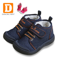 New Autumn Baby Shoes 2017 Casual Demin Jeans Children Boots Winter Canvas Rubber Boys Sneakers Plush