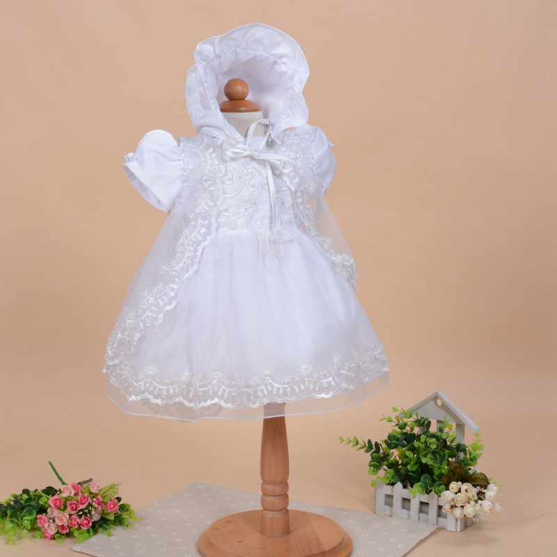 3 pcs set newborn baby girl dress handmade baby girl for Making baptism dress from wedding gown