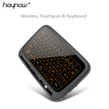 Teclado retroiluminado HEYNOW H18 plus Control remoto Air Mouse y Teclado 2,4 Ghz Inalámbrico Full Touchpad para Android TV Box ordenador(China)
