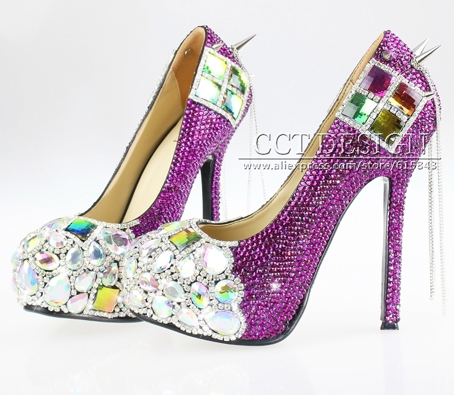 Purple Crystal Heels Promotion-Shop for Promotional Purple Crystal ...