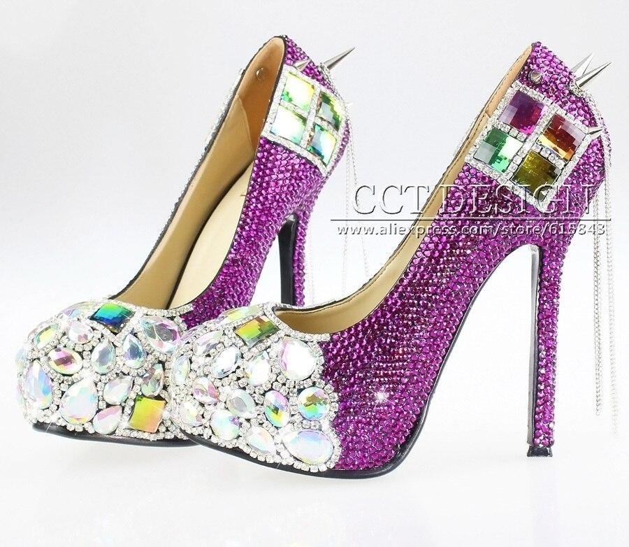 Unique Purple Heels