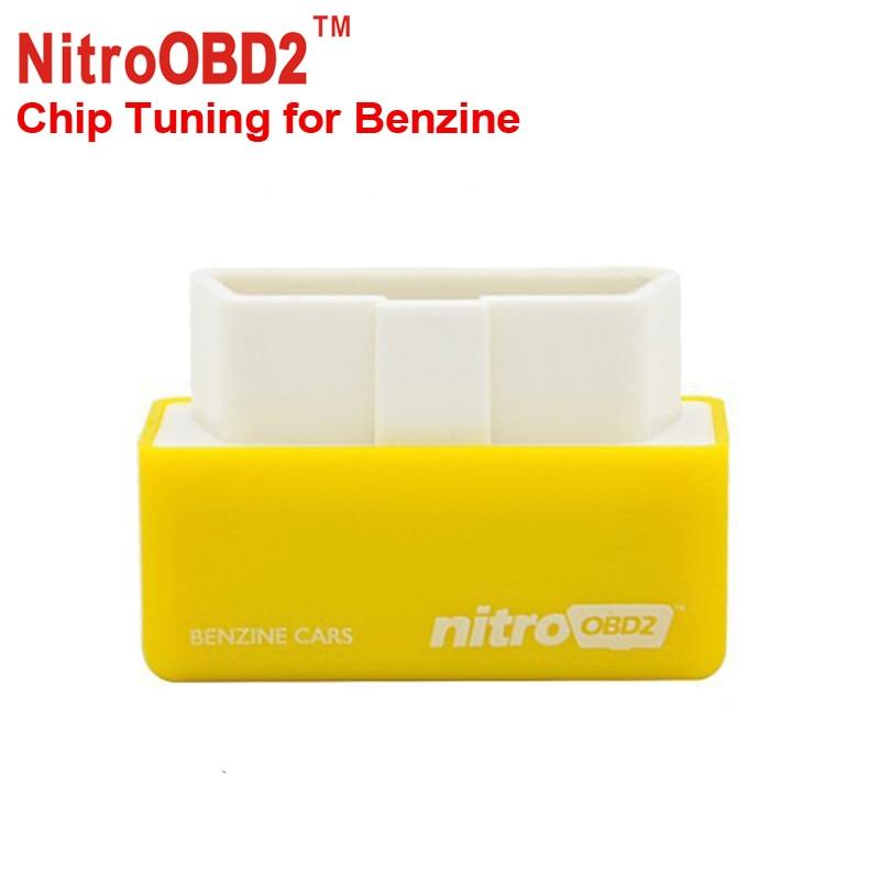 Prix pour 2016 Vente Chaude Plug And Drive NitroOBD2 Benzine L'économie Chip Tuning Box pour Benzine 15% Carburant Enregistrer Livraison Gratuite