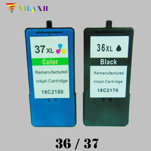 2PK 36xXL 37XL Ink Cartridge for Lexmark 36 37  Z2400 Z2410 Z2420 X3630 X3650 X4630 X4650