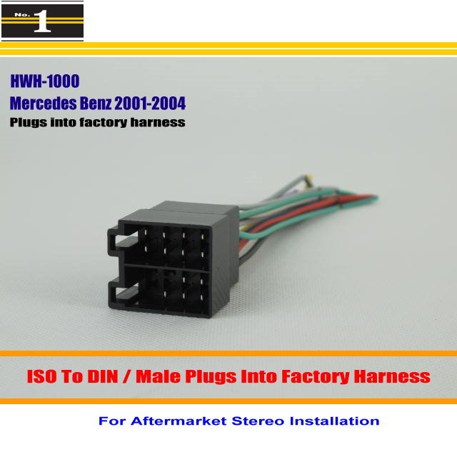 For Benz C230 C240 C32 C320 Male font b ISO b font Radio font b Wire online get cheap car wire wiring harness plug iso aliexpress com mazda wiring harness connectors at webbmarketing.co