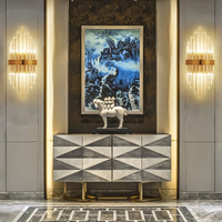 luxury design crystal wall sconce gold applique murale luminaire AC110V 220V lustre living room bedroom wall light