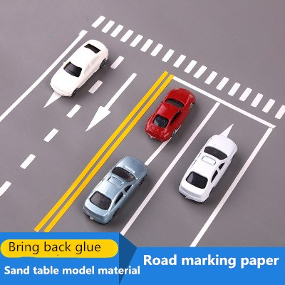 Sand Table Model Material PVC Waterproof Sticker Road Traffic Marking Label The Zebra Crossing The Road