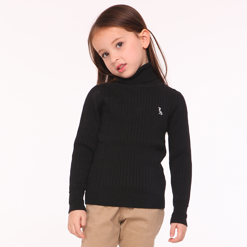 T100 Children Sweater Winter Turtleneck Kids Knitted Pullover Brand Baby Clothes Warm Sweater Girls Knitwear Christmas Outwear t100 children sweater winter wool girl child cartoon thick knitted girls cardigan warm sweater long sleeve toddler cardigan
