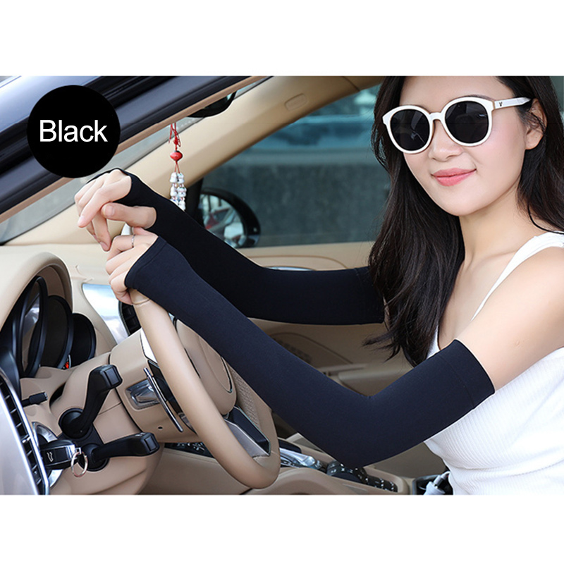 5 Pairs Cooling Arm Sleeves Sun UV Protection Outdoor Sport Sunscreen Half Finger Cover JL
