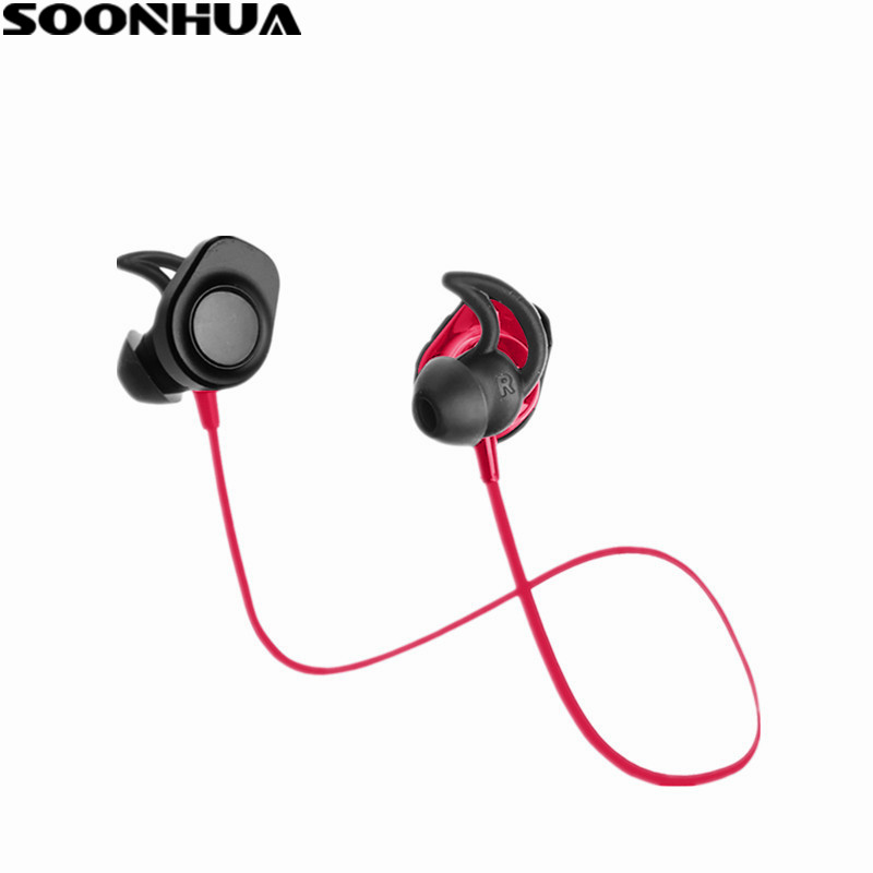 все цены на SOONHUA Wireless Headphones Bluetooth 4.2 Sports Sweatproof Earphones Running In-ear Earbuds Stereo Headset With Mic For iPhone онлайн