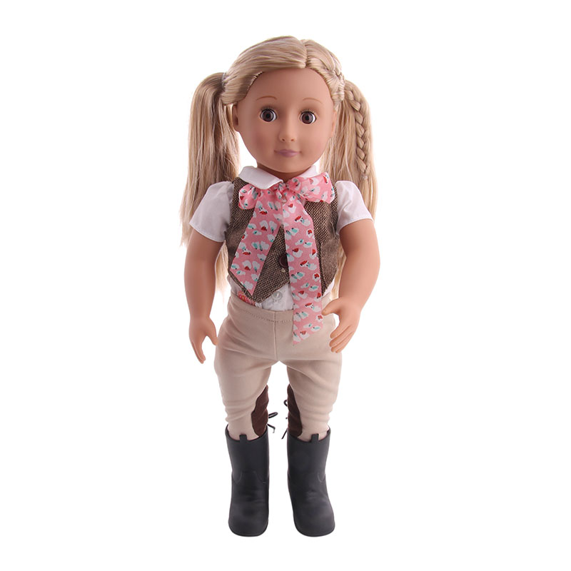 New Doll Gray Vest + Pants + Shoes for 18-inch American  to Give Children Christmas Gifts (including dolls) New Doll Gray Vest + Pants + Shoes for 18-inch American  to Give Children Christmas Gifts (including dolls)