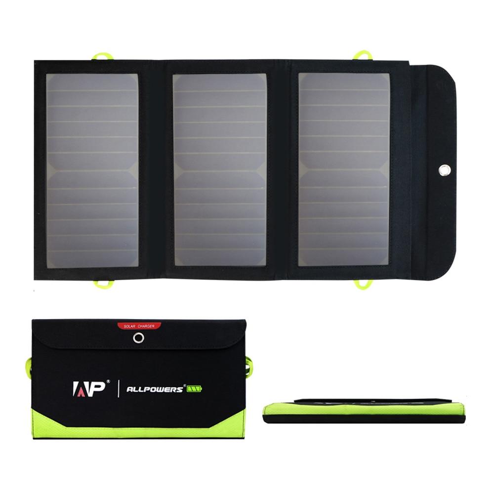 Carregador de Painéis solares 21W 6000mAh Recarregável Carregadores de Painéis Solares para o iphone 6 6s 7 7plus 8 iPhone X Xr Xs Xs max Samsung