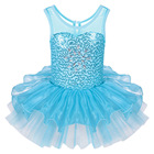 Save 0.55 on Fancy Blue Kid Girls Ballet Tutu Dress Sequined Dancewear Sleeveless Ball Gown Tutu Dress Professional GYM Leotard for 2-8Y