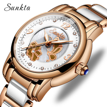 SUNKTA2019 New Listing Rose Gold Watch Women Quartz Watches Ladies Top Brand Luxury Female Girl Clock Relogio Feminino+Box
