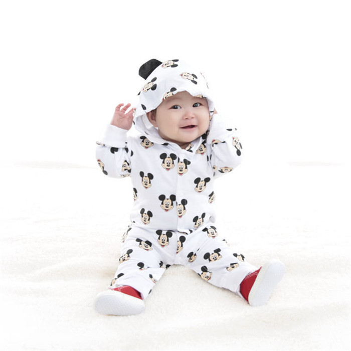 Spring Autumn Cartoon Newborn Baby Clothes Cotton Long Sleeve Kids Jumpsuits Boys Girls Rompers Outfits Baby Girls Clothes