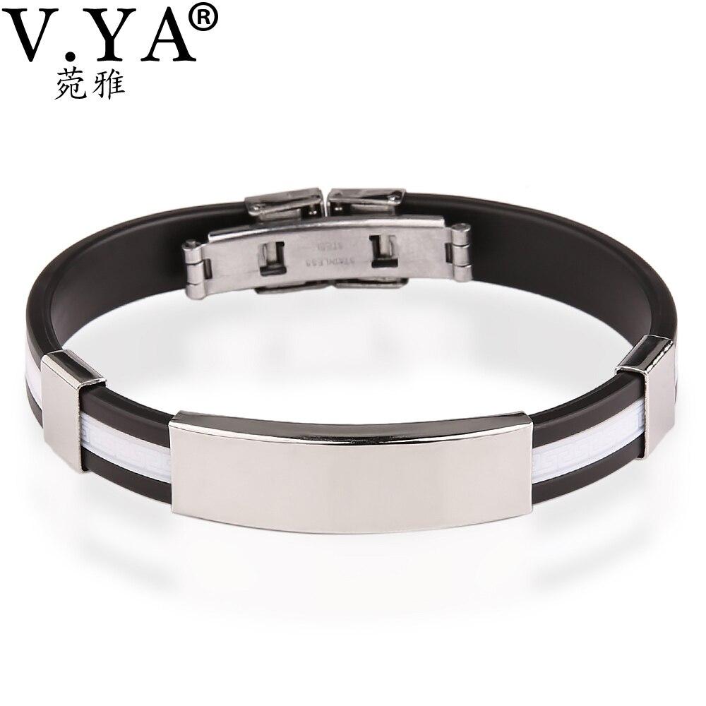 Vya Valentine's Jewelry Engraved Bracelets Men Women Personalized  Stainless Steel Bracelet Bangle Woman's Man's Customized Gift