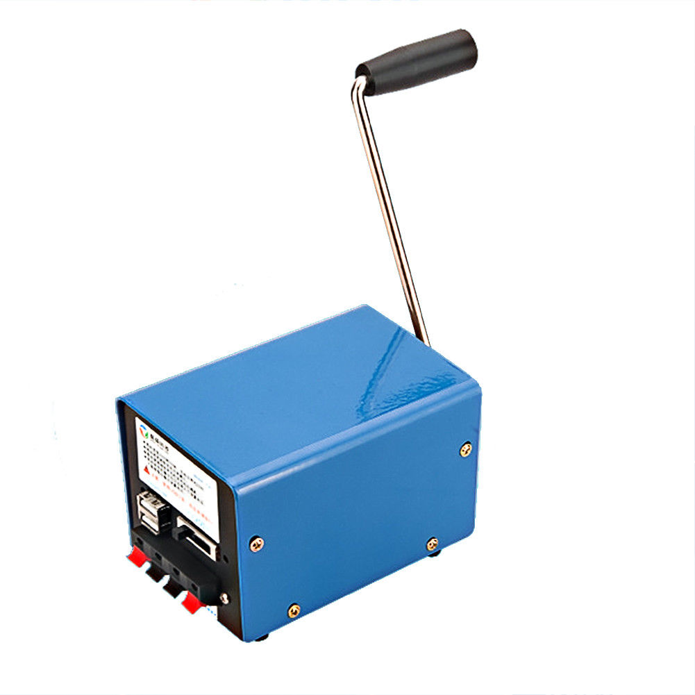 Outdoor Multifunction Portable Manual Crank Generator Charge For Cellphone Emergency Survival