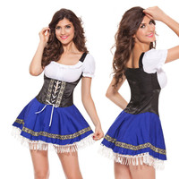 sexy plus size woman hot blue black maid Uniform sexy costumes and lingerie for adults porno games erotic fantasy big size maid