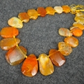 15.5inch/Full Strand Orange Color Druzy Agate Gems Stone Beaded - Slab Slice Raw stone Connector Beads Pendant Polished- C-1917