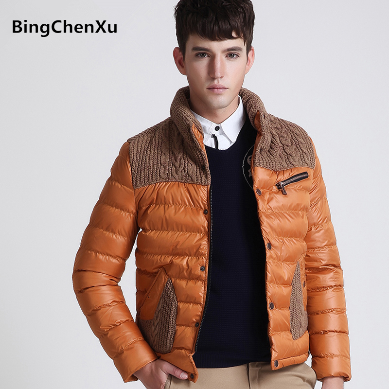Fashion Brand Overcoat Winter Men's Down Jacket With Slim Men Outwear Cotton-Padded Coat Casual Thick Warm Mens Down Jackets 440 winter jacket men thick warm hooded winter coat cotton padded jackets fashion young mens slim fit outwear parka hombre