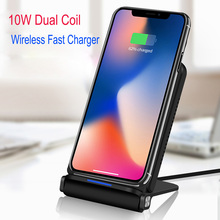 Esobest Foldable 10W Dual Coil Qi Wireless Charger for iPhone X 8 plus Samsung Note 8 s8 Fast Charging Pad Docking Dock Station