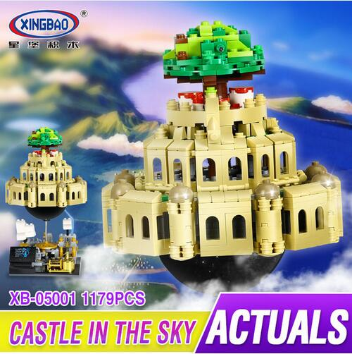 XingBao 05001 Block 1179Pcs Genuine Creative MOC Series The City in The Sky Set Educational Building Blocks Bricks Model xingbao 05001 1179pcs creative moc movie