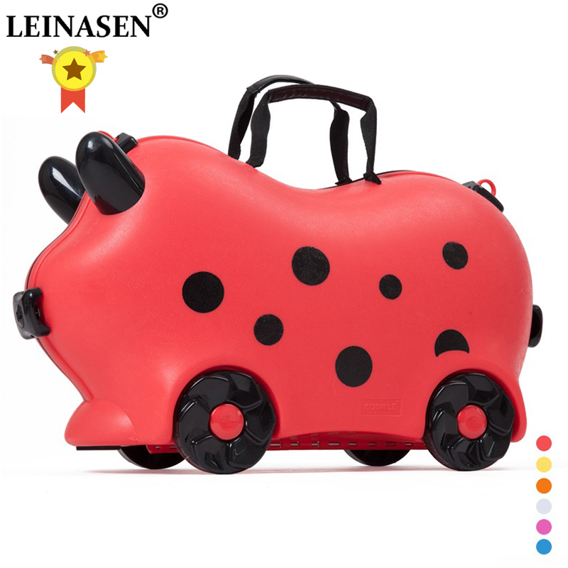 Children luggage kid suitcase locker handbag boy girl baby Toy box luggage Pull rod box Can sit ride Check box