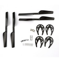 RC Quadcopter Propellers For Parrot AR Drone 2.0 Parts Carbon Fiber Propeller Gear Guard Beari By DIY DR0053