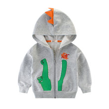 LOOZYKIT Children Cartoon Crocodile Coat Spring Autumn Kids Zipper Jacket Boys Outerwear Coats Baby Clothes Boy Hooded Clothing(China)