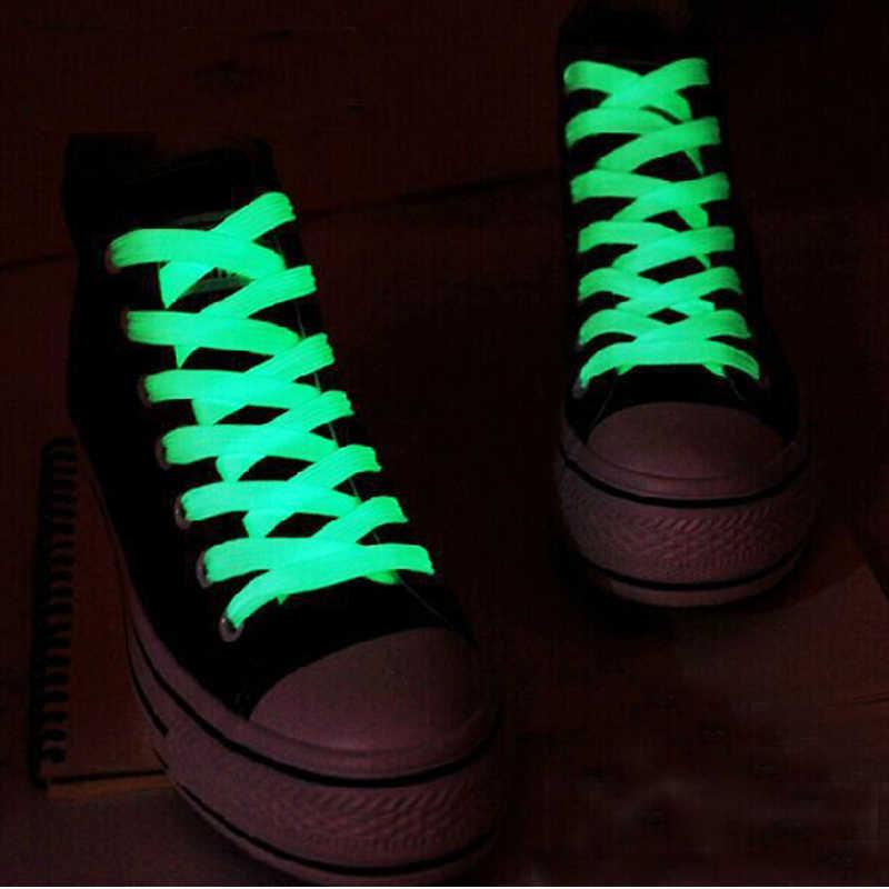 1 пара 120 см шнурки светится в темноте люминесцентные игрушки улучшают манипуляцию способность подарок для детей модные спортивные аксессуары