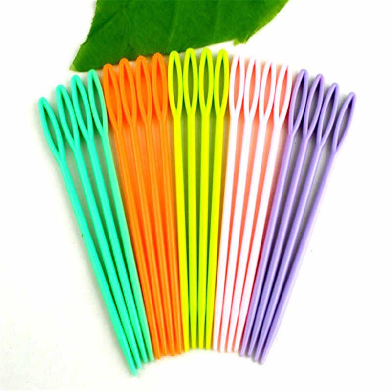 DoreenBeads Multicolor Agulhas De Costura De Plástico Gancho de Crochet 5 Cores Ferramentas De Costura Acessório 7CM de Comprimento fixo 20 pçs/set