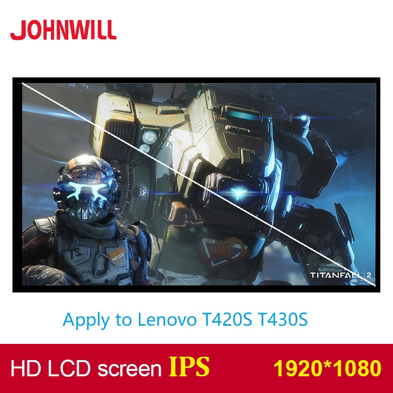 14 Inch 1920*1080 HD IPS Panel Laptop LCD Screen Apply To Lenovo T420S T430S Screen High Score Screen Replacement Notebook