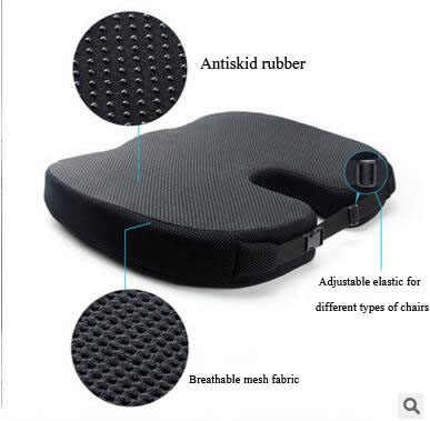 Hoge Kwaliteit Memory Foam Antislip Kussen Pad Voorraden, Verstelbare Auto Zitkussens, volwassen Autostoel Booster Kussens