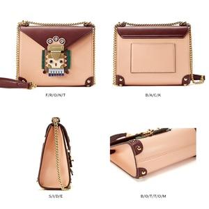 Image 5 - EMINI HOUSE Indian Style Padlock Chain Bag Niche Crossbody Bags For Women Shoulder Bag Split Leather Women Messenger Bags