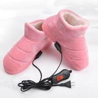 220 v aquecedor elétrico sapatos de aquecimento controle temperatura quente pé tesouro para calefator macio sapato de carregamento quente botas de neve