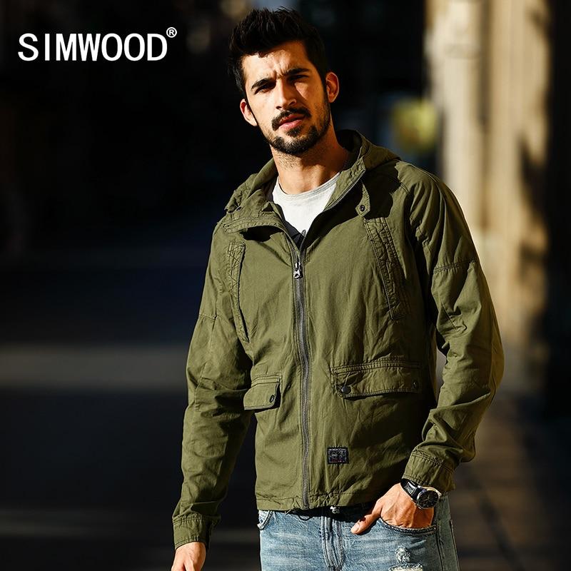 SIMWOOD brand 2017 new Spring cotton jacket men fashion causal coats zipper WJ1650