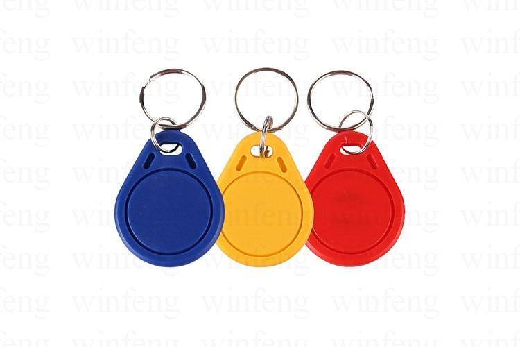 50pcs/lot 125khz RFID Tag Key Fob Keyfobs Keychain Ring Token Proximity ID Card Chip EM 4100 TK4100 for Access Control 1pcs lot access control 125khz usb rfid id em card keyfobs reader 5pcs em4100 keychain