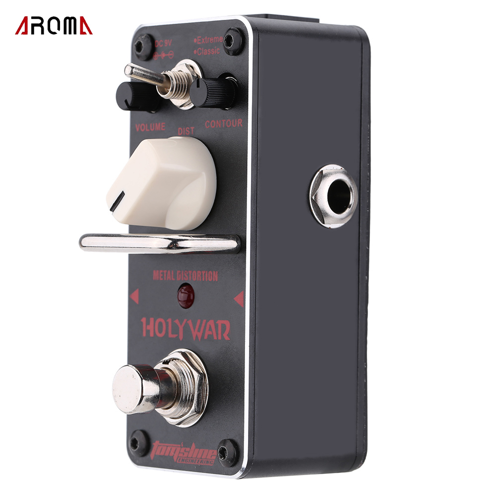 AROMA AHOR-3 Holy War Metal Distortion Electric Mini Single Guitar Effect Pedal True Bypass Guitarra Accessory aroma adr 3 dumbler amp simulator guitar effect pedal mini single pedals with true bypass aluminium alloy guitar accessories