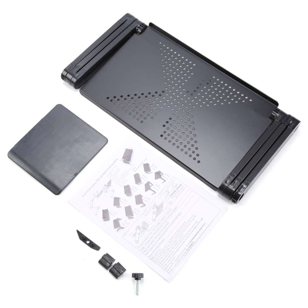 Portable and adjustable laptop stand for use at work and at home 3