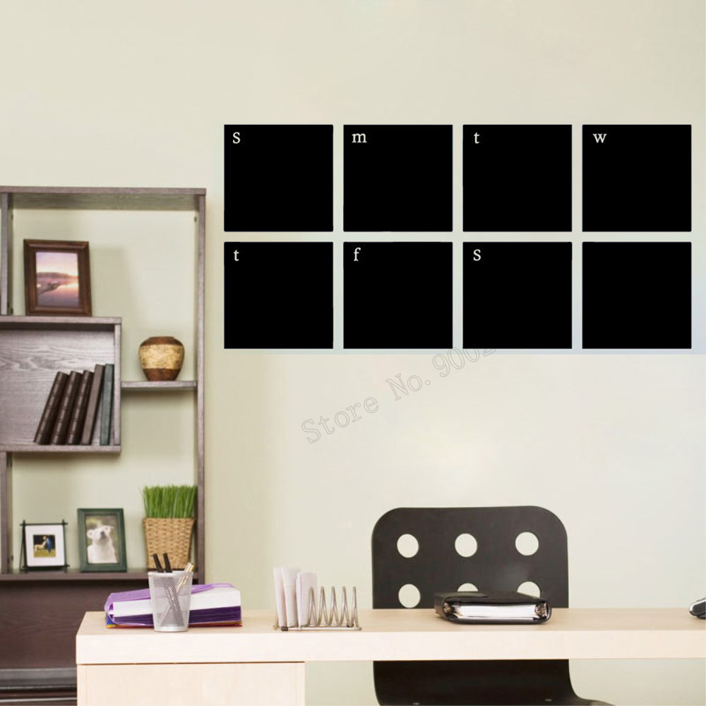 Art  Wall Sticker Blackboard Chalkboard Calendar Planner Classroom Decor Removeable Poster Vinyl Mural LY102