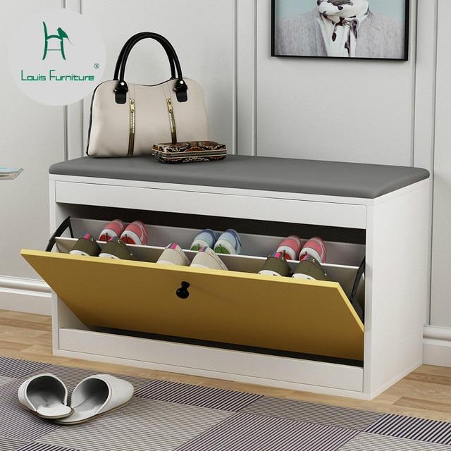 Louis Fashion Shoe Cabinets Modern Simplified Nordic Storage Sofa Stool