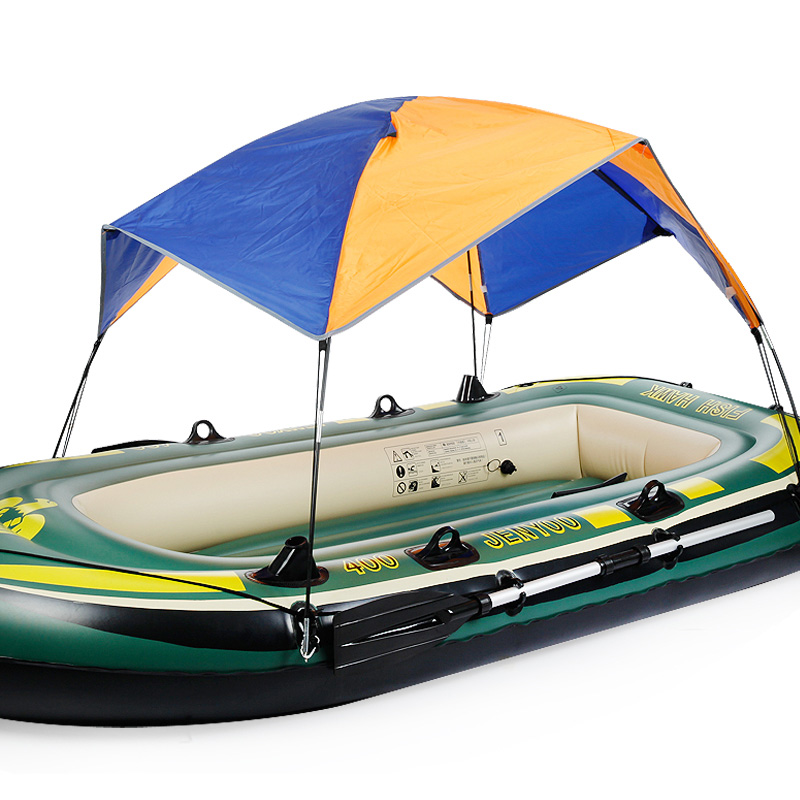 Inflatable boat tent sun shelter 3 4 person fishing boat for 4 person fishing boat