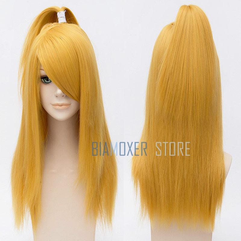 Image 2 - Naruto Akactuki Cosplay hair wig halloween Deidara cosplay wig for men Long Gold wigs hairpiece costume-in Anime Costumes from Novelty & Special Use