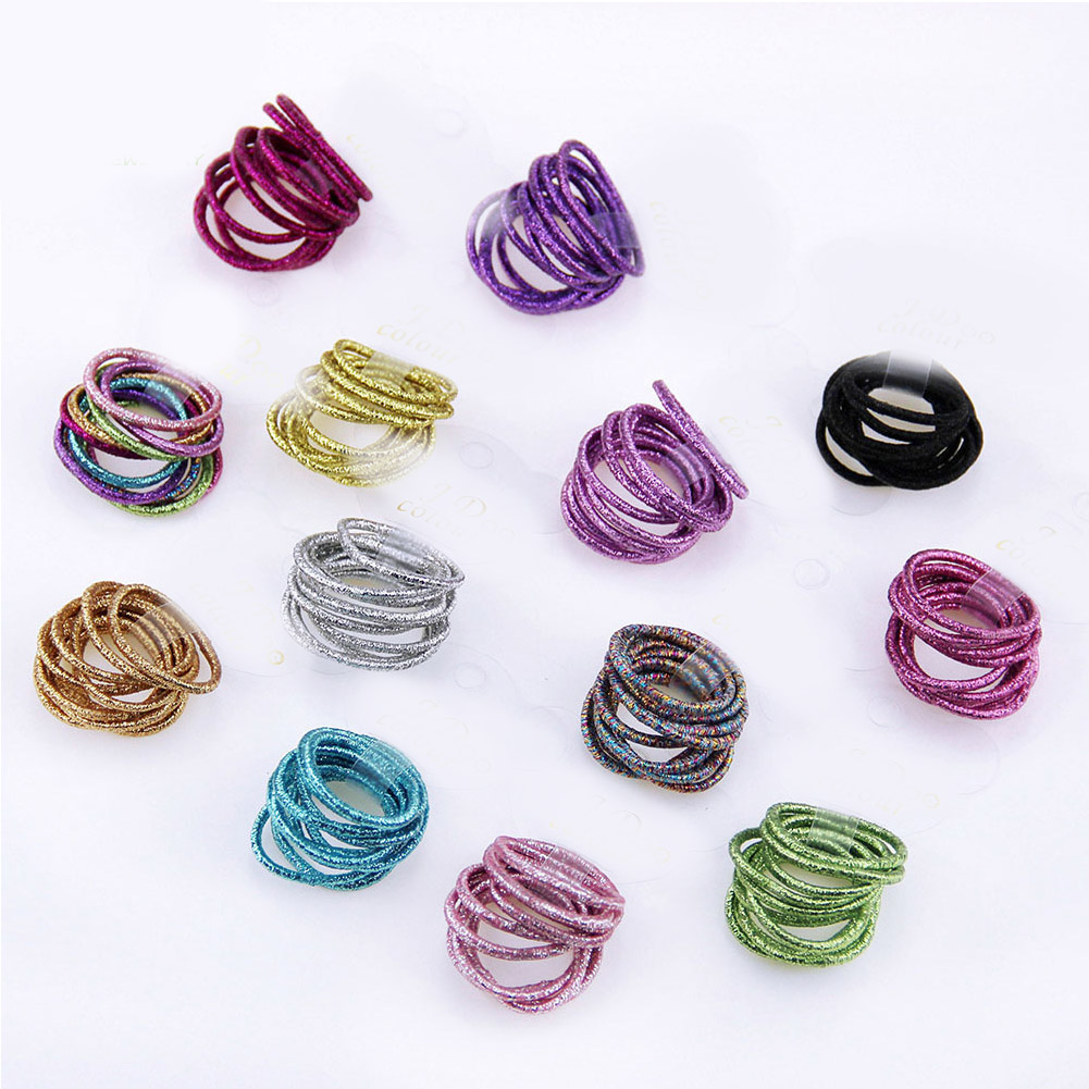 New 2019 Fashion Children Solid Thin Elastic Rubber Bands Korean Style Basic Girl Women Headwear Hair Accessories Tie Gum(China)