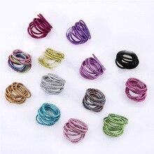 New 2019 Fashion Children Solid Thin Elastic Rubber Bands Korean Style Basic Girl Women Headwear Hair Accessories Tie Gum