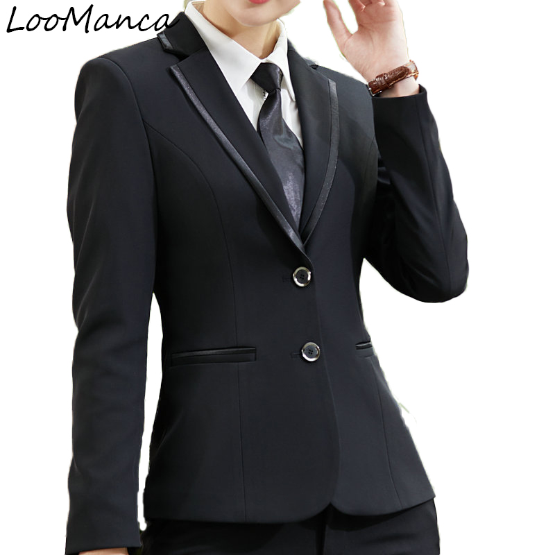 Elegant long sleeve blazers women professional spring autumn plus size all-match formal slim jacket office fashion work wear