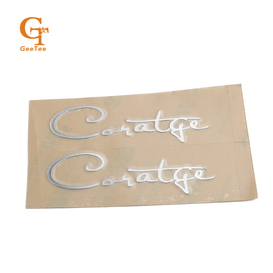 Custom name logo metal stickersluxury self adhesive metal stickers for glasses bottleembossed metal labels sticker for plastic in stationery stickers from